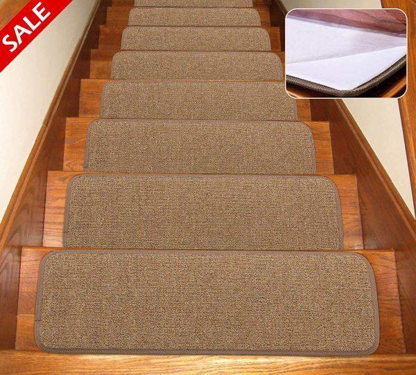 Self Adhesive Non Slip Carpet Stair Treads Canine